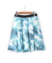 LANVIN en Bleu(ランバンオンブルー)の古着「シアーフラワースカート」|ブルーグリーン