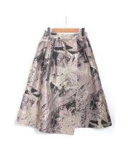 EFFE BEAMS(エッフェビームス)の古着「アブストラクトジャガードスカート」|ピンク