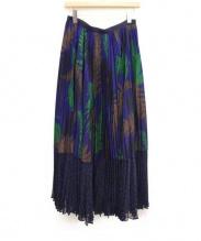 sacai(サカイ)の古着「プリーツスカート」|ネイビー