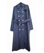 GRENFELL(グレンフェル)の古着「リネントレンチコート」|ブルー