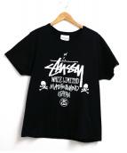 WHIZ LIMITED x STUSSY x mastermind JAPAN(ウィズリミテッド×ステューシー×マスターマインド・ジャパン)の古着「コラボロゴプリントTシャツ」 ブラック