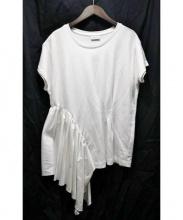 DRIES VAN NOTEN(ドリスヴァンノッテン)の古着「アシメデザインTシャツ」|ホワイト