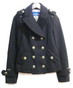 BURBERRY BLUE LABEL(バーバリーブルーレーベル)の古着「Pコート」|ブラック
