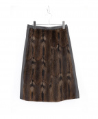 PRADA SPORTS(プラダスポーツ)の古着「レザー切替スカート」