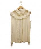MIUMIU(ミュウミュウ)の古着「ノースリーブブラウス」|アイボリー