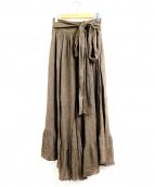 SEE BY CHLOE(シーバイクロエ)の古着「デザインロングスカート」|ブラウン