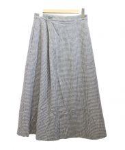 GALERIE VIE(ギャルリーヴィー)の古着「アシンメトリータックスカート」|グレー