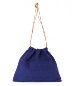 charrita(チャリータ)の古着「巾着バッグ」|ブルー