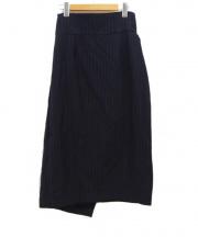 JANE SMITH(ジェーンスミス)の古着「ストライプハイウエストスカート」|ネイビー