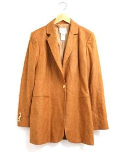 CELINE(セリーヌ)の古着「シルクカシミヤテーラードジャケット」 ブラウン