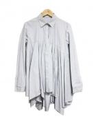 REKISAMI(レキサミ)の古着「フレアデザインシャツ」|ライトブルー