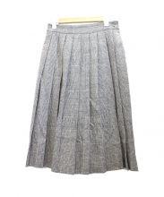 BEAMS BOY(ビームスボーイ)の古着「グレンチェックプリーツスカート」|グレー