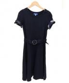 BLUE LABEL CRESTBRIDGE(ブルーレーベル・クレストブリッジ)の古着「ポンチベルトワンピース」|ネイビー