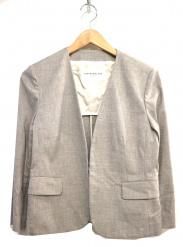 TOMORROW LAND(トゥモローランド)の古着「シャンブレーリネンVネックジャケット」