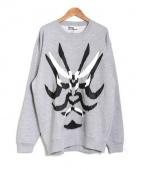 shinya yamaguchi(シンヤヤマグチ)の古着「kabuki Sweat Shirt」 グレー