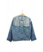 ELENDEEK(エレンディーク)の古着「シルバールーズデニムジャケット」|ブルー