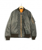 MINOTAUR(ミノトール)の古着「フリルMA-1ジャケット」|オリーブ