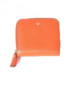 ANYA HINDMARCH(アニヤハインドマーチ)の古着「2つ折りコンパクト財布」|オレンジ
