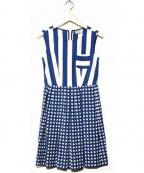 MARELLA(マレーラ)の古着「ノースリーブワンピース」|ブルー