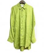 Max Mara(マックスマーラ)の古着「リネンシャツ」|グリーン