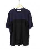 CEDRIC CHARLIER(セドリック シャルリエ)の古着「Tシャツ」|ネイビー×ブラック