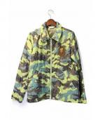 A BATHING APE(ア ベイシング エイプ)の古着「猿刺繍カモキルティングジャケット」 カーキ