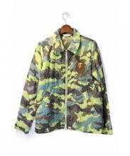 A BATHING APE(ア ベイシング エイプ)の古着「猿刺繍カモキルティングジャケット」|カーキ