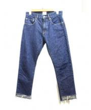 Plage(プラージュ)の古着「クロップドカットオフデニム」|ブルー