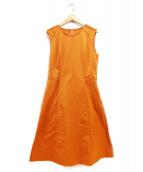 FOXEY NEWYORK(フォクシーニューヨーク)の古着「ノースリーブワンピース」 ダークオレンジ