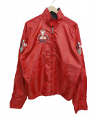 DIESEL(ディーゼル)の古着「リバーシブルサテンスイングトップ」 レッド