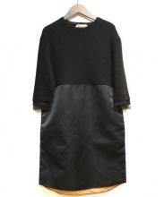 N°21 numero ventuno(ヌメロヴェントゥーノ)の古着「ドッキングワンピース」|ブラック