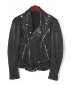 MUSHER(マーシャー)の古着「ライダースジャケット」|ブラック