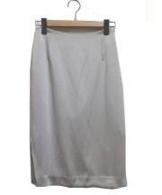 DEUXIEME CLASSE(ドゥーズィエムクラス)の古着「ハンマーサテンタイトスカート」|ライトグレー