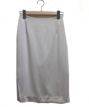DEUXIEME CLASSE(ドゥーズィエムクラス)の古着「ハンマーサテンタイトスカート」 ライトグレー