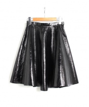 AKIRA NAKA(アキラ ナカ)の古着「サーキュラースカート」|ブラック