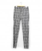 Casely-Hayford(ケイスリーヘイフォード)の古着「チェックトラウザーパンツ」|グレー