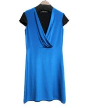 DEREK LAM(デレクラム)の古着「シルクワンピース」 ブルー