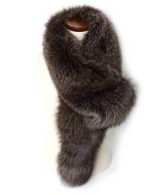 VOICEMAIL(ヴォイスメール)の古着「フォックスファーティペット」 ブラウン