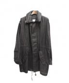 Martin Margiela 10(マルタンマルジェラ 10)の古着「リネンコーティングモッズコート」|ブラック