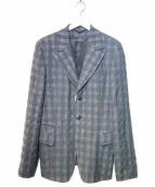 ANN DEMEULEMEESTER(アンドゥムルメステール)の古着「綿麻ジャケット」|グレー