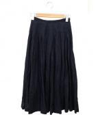 Lisette(リゼッタ)の古着「リネンタックスカート」|ネイビー