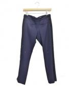Emilio Pucci(エミリオプッチ)の古着「サイドレースアップパンツ」|ネイビー