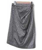 Vivienne Westwood ANGLOMANIA(ヴィヴィアンウエストウッド アングロマニア)の古着「刺繍タックスカート」|グレー