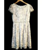 FRANCO FERRARO(フランコフェラーロ)の古着「フラワー刺繍ワンピース」 グレー