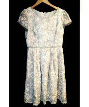 FRANCO FERRARO(フランコフェラーロ)の古着「フラワー刺繍ワンピース」|グレー