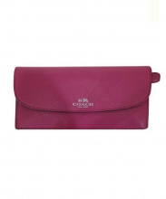 COACH(コーチ)の古着「2つ折り財布」 ピンク
