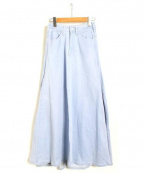 woadblue(ウォードブルー)の古着「デニムマキシスカート」|ライトブルー