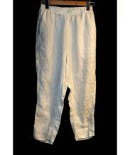 babaghuri(ババグーリ)の古着「リネンイージーパンツ」|ホワイト