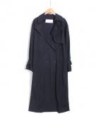 LE CIEL BLEU(ルシェルブルー)の古着「ロングトレンチコート」|ネイビー