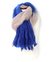 Baby Mo(ベビモ)の古着「モヘヤストール」|ブルー